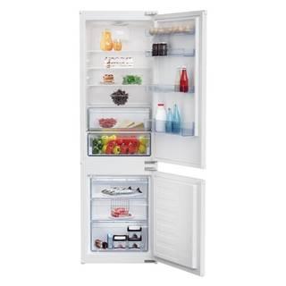 Kombinácia chladničky s mrazničkou Beko Bcsa285k4sn biele