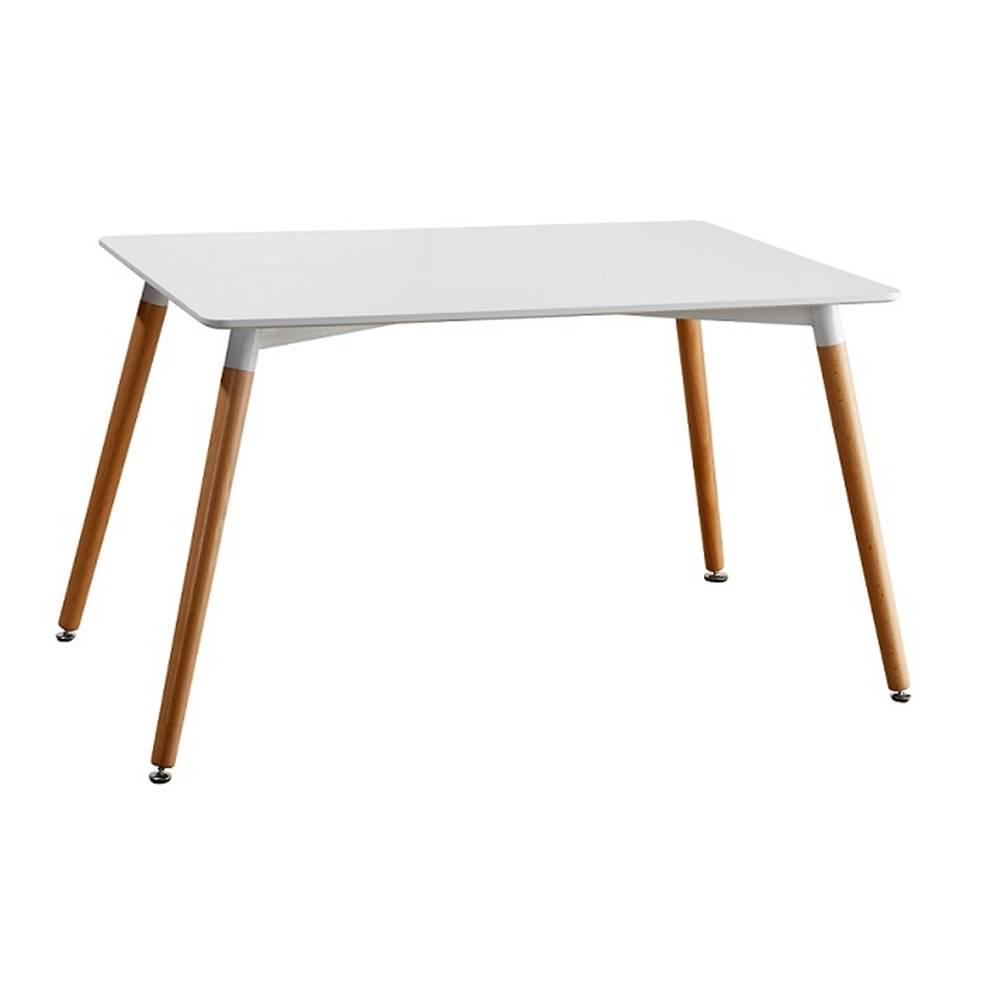 Tempo Kondela Jedálenský stôl biela/buk DIDIER 4 NEW