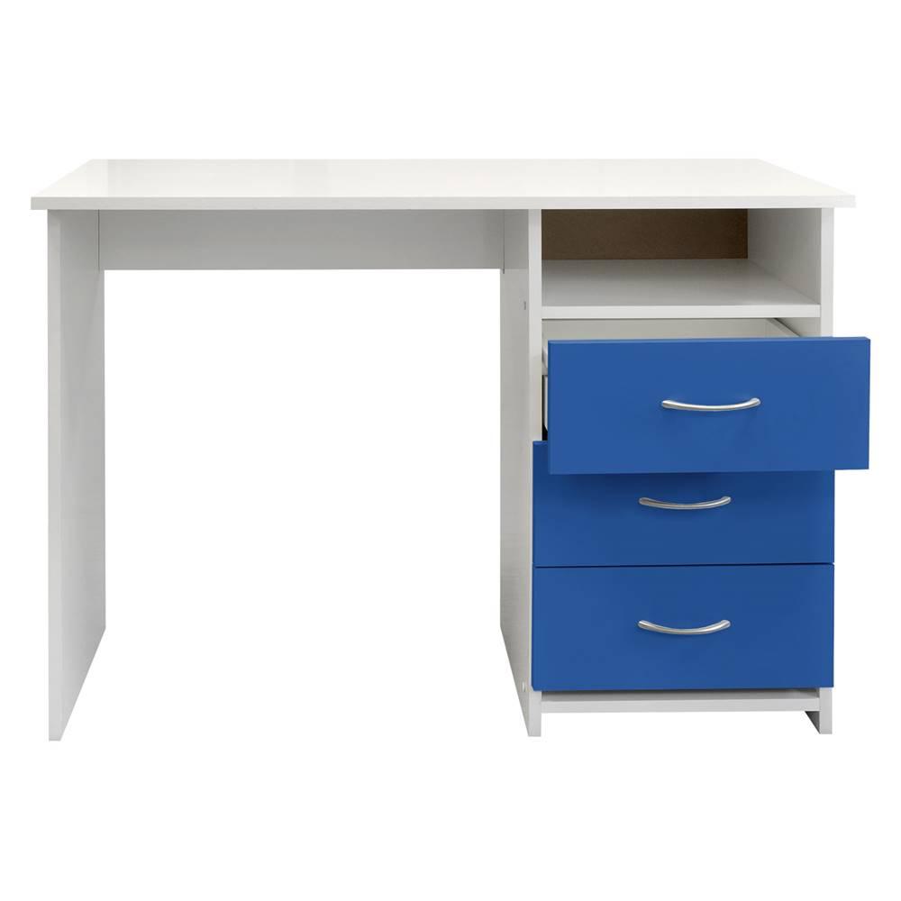 IDEA Nábytok Písací stôl 44 modrá/biela