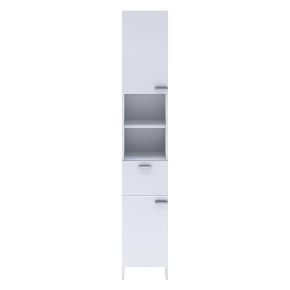 IDEA Nábytok Vysoká skrinka 2 dvere + 1 zásuvka KORAL biela