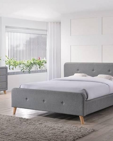 Sivá posteľ Signal