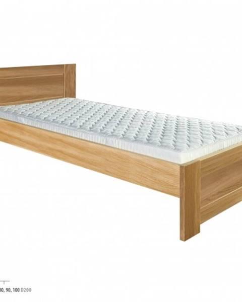 Béžová posteľ Drewmax