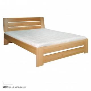 Drewmax Manželská posteľ - masív LK192 | 160 cm buk