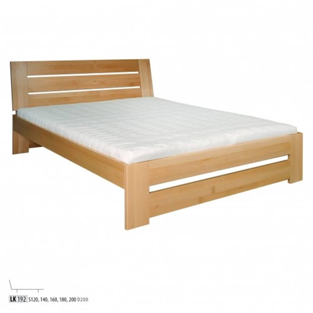 Drewmax Drewmax Manželská posteľ - masív LK192 | 140 cm buk