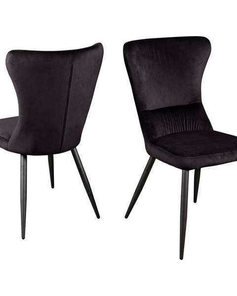 Čierna stolička Möbelix