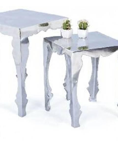 Strieborný stôl ASKO - NÁBYTOK