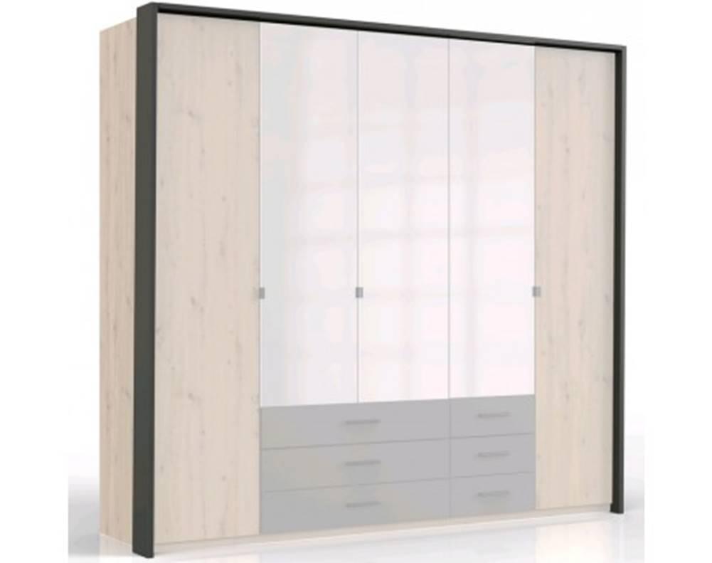 ASKO - NÁBYTOK Paspartový rám k šatníkovej skrini Coventry, 228 cm, antracitová oceľ%