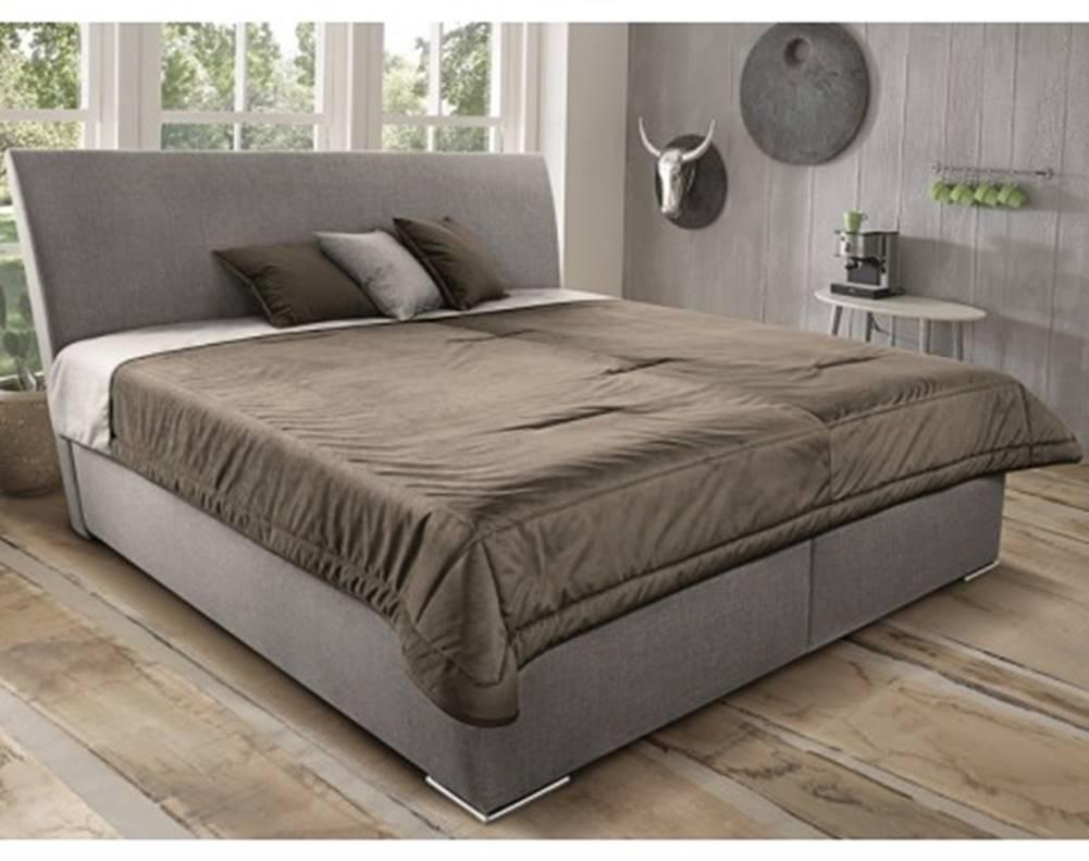 ASKO - NÁBYTOK Posteľ Monte 180x200 cm, béžová tkanina/deka/vakúše%