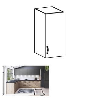 Horná skrinka dub artisan/sivý mat pravá LANGEN G30