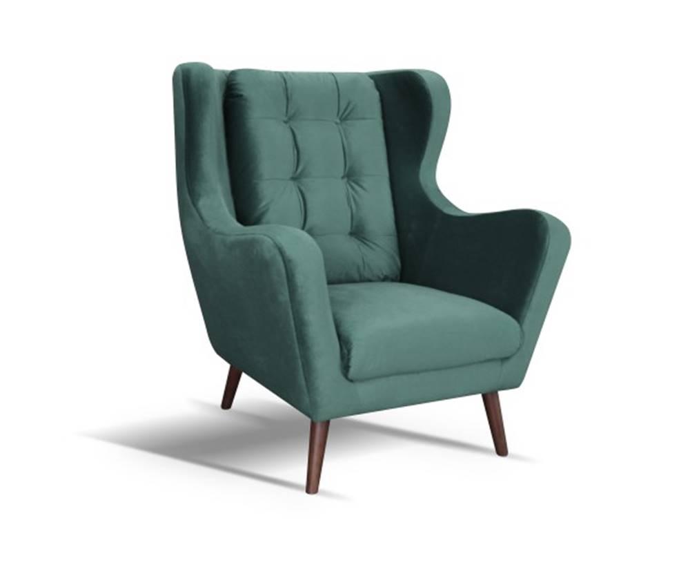 OKAY nábytok Kreslo ušiak Cremona zelená