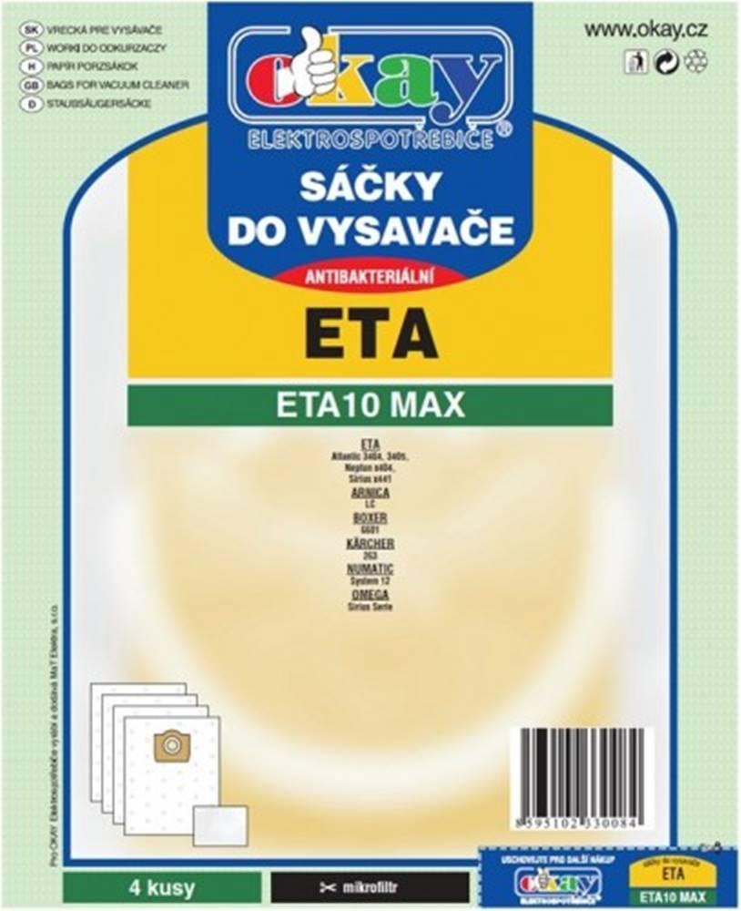 Jolly Vrecká do vysávača Eta ETA 10 MAX, 8ks