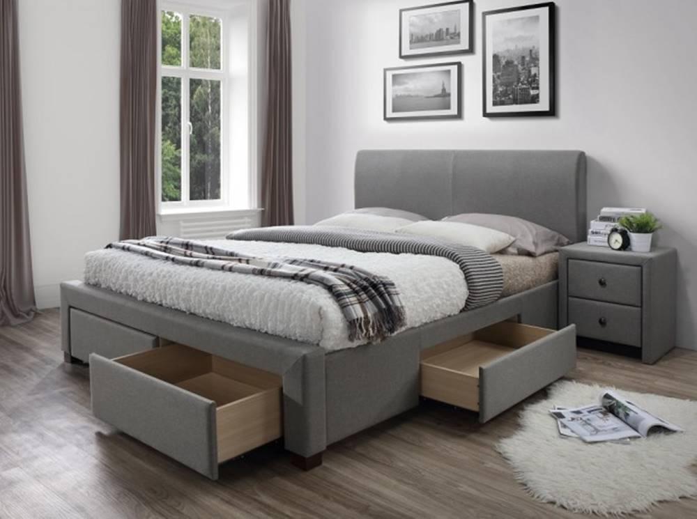 OKAY nábytok Čalúnená posteľ Marion 160x200, vrátane roštu a úp, bez matracov