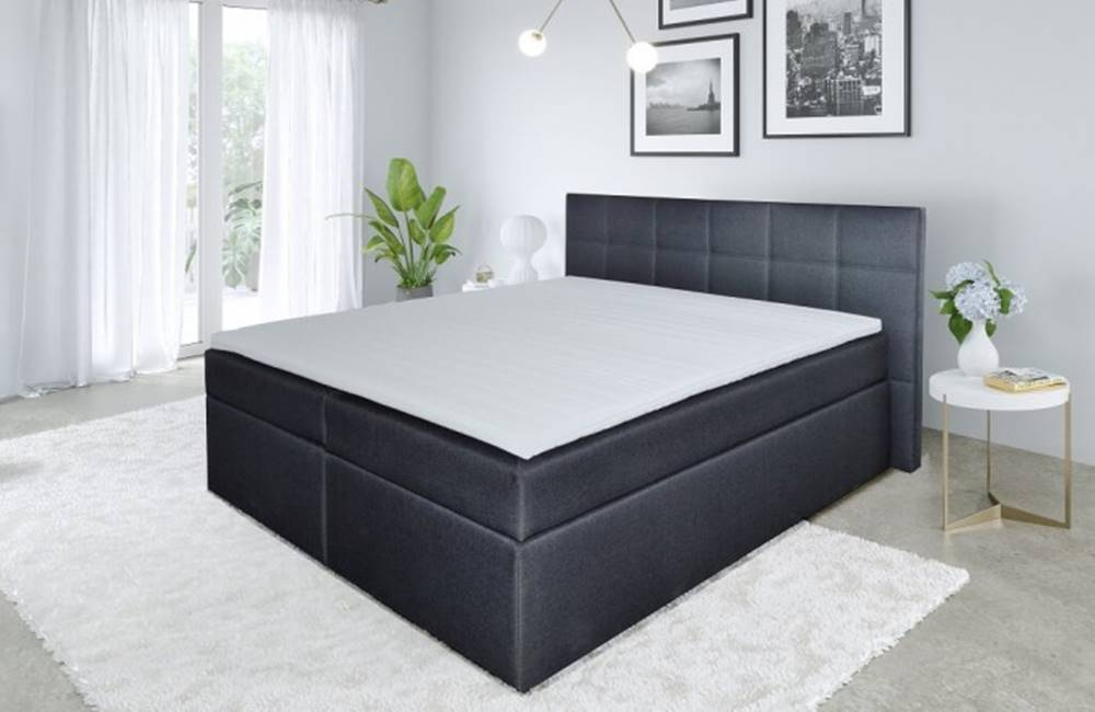 OKAY nábytok Posteľ Boxspring Bea 180x200, vrátane matracov a topperu