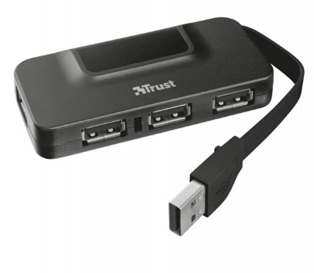 Trust Hub Trust Oila 4, port USB 2.0, 4 USB konektory, čierna