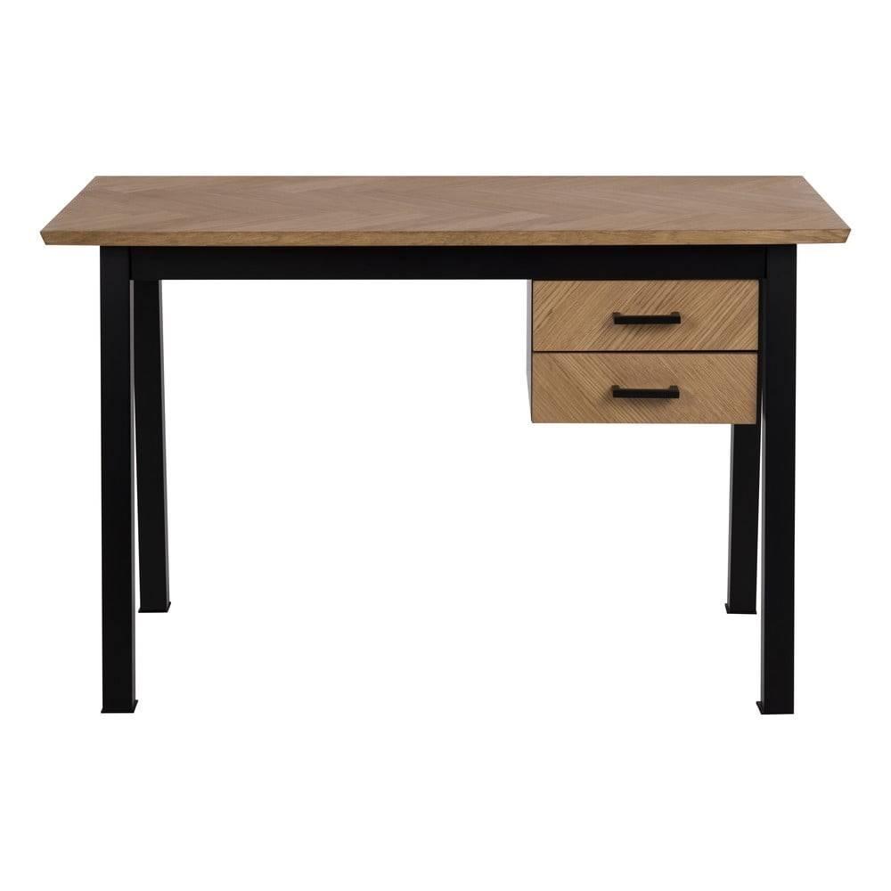 Actona Pracovný stôl v dubovom dekore Actona Brighton Herringbone