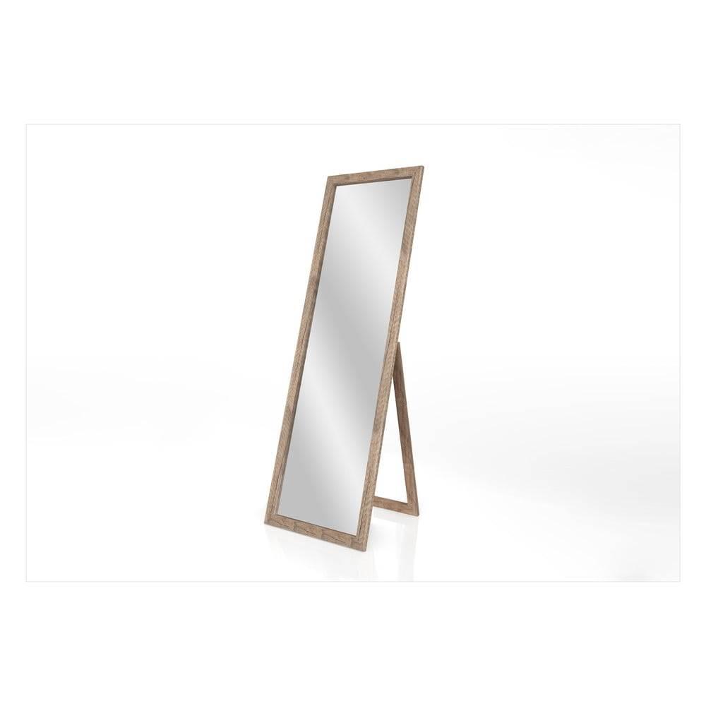 Styler Stojacie zrkadlo s hnedým rámom Styler Sicilia, 46 x 146 cm
