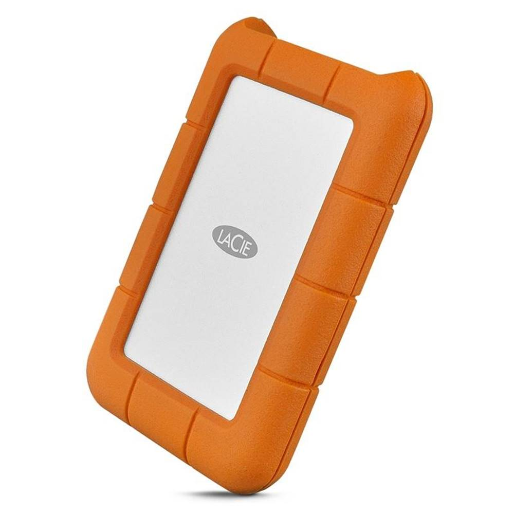 Lacie Externý pevný disk Lacie Rugged 2TB, USB-C oranžový