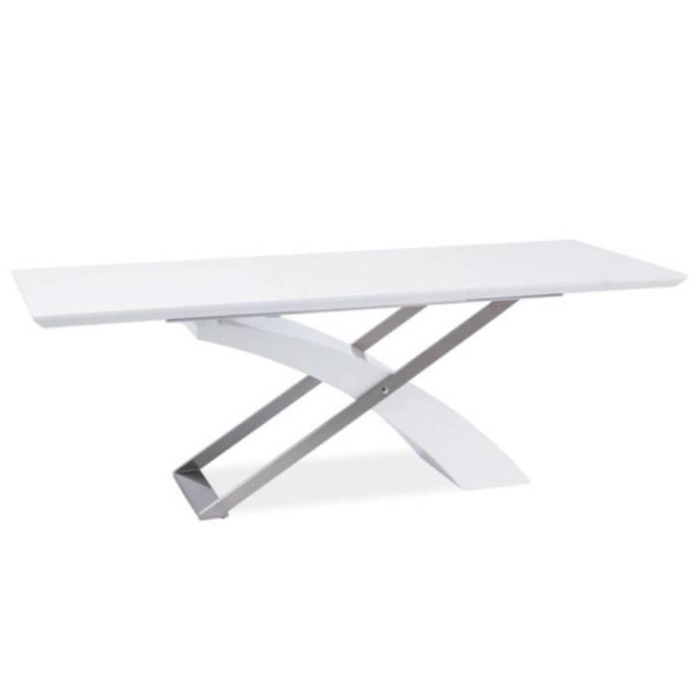 Tempo Kondela Jedálenský stôl biela/biela extra vysoký lesk HG KROS