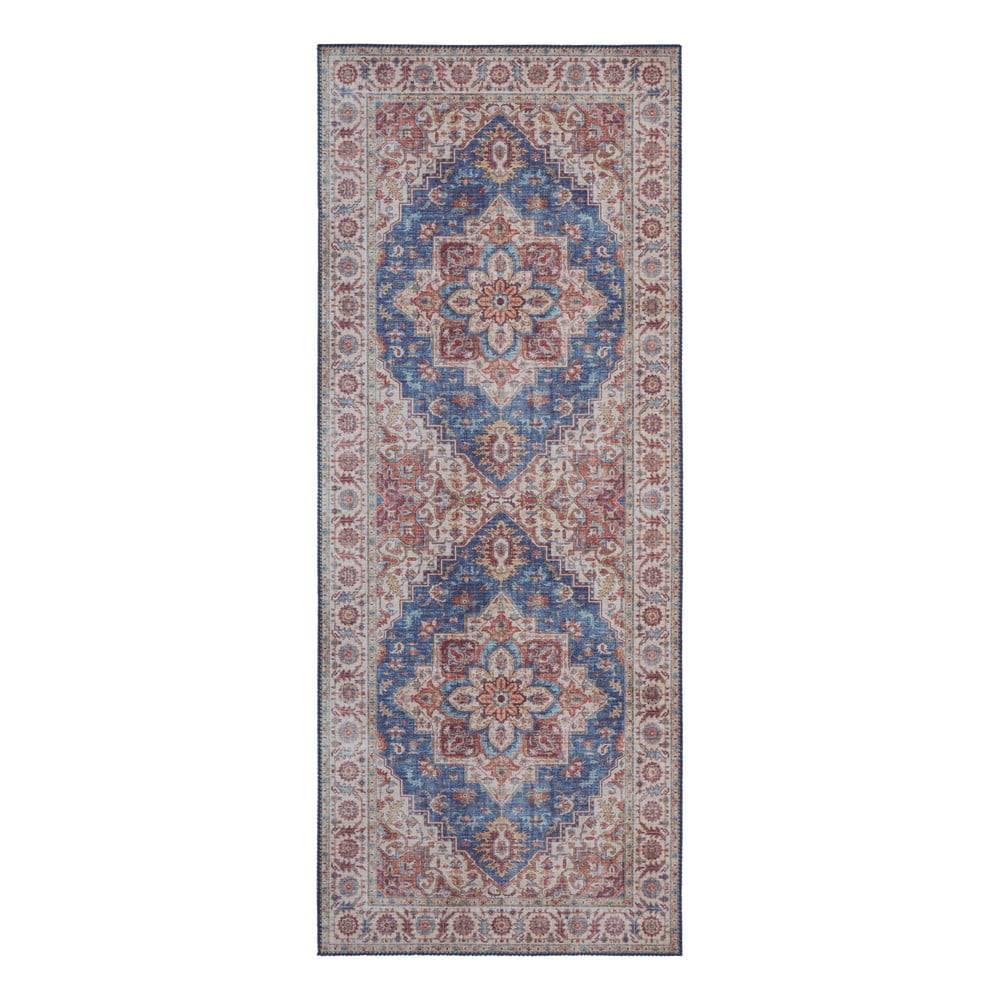 Nouristan Modro-červený koberec Nouristan Anthea, 80 x 200 cm