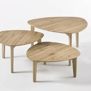 Konferenčný stolík Freda - set 3 kusov