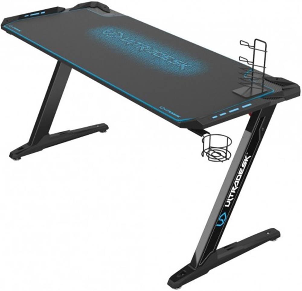 Ultradesk Herný stôl ULTRADESK SPACE XXL BLUE UDESK-SP-BU + ZDARMA podložka pod myš a hub