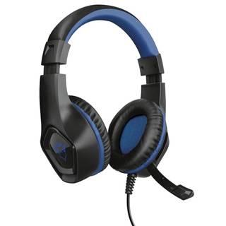 Headset  Trust GXT 404B Rana pro PS4 čierny/modrý