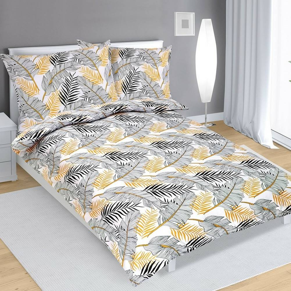 Bellatex Bellatex Bavlnené obliečky Pierka, 140 x 220 cm, 70 x 90 cm