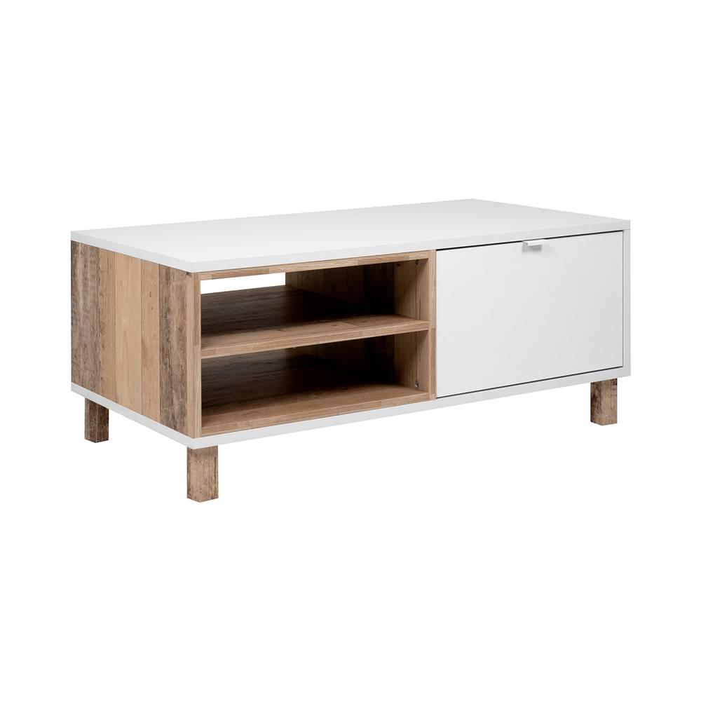 IDEA Nábytok Konferenčný stolík MENORCA 55A svetlý antik/biela