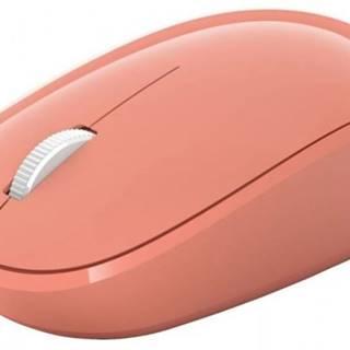Bezdrôtová myš Microsoft Bluetooth Mouse, peach RJN-00042 + Zdarma podložka Olpran
