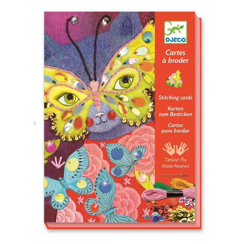 Djeco Set pre výrobu 3 karnevalových masiek Djeco Papillon