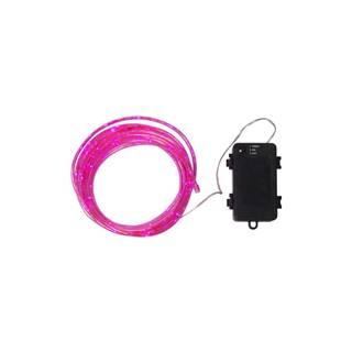 Ružová vonkajšia svetelná LED reťaz Best Season Tuby, 50 svetielok