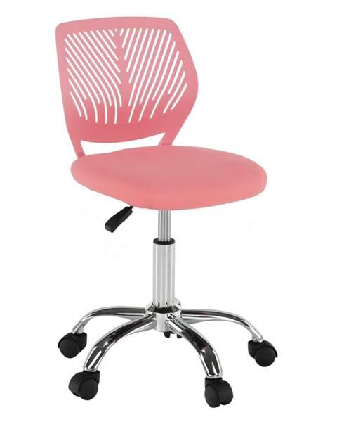 Ružová stolička Tempo Kondela