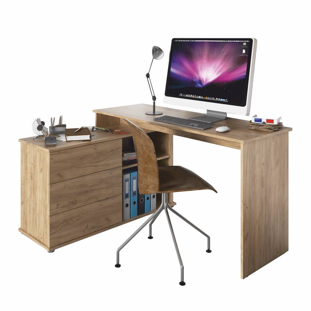 Tempo Kondela Univerzálny rohový PC stôl dub artisan TERINO