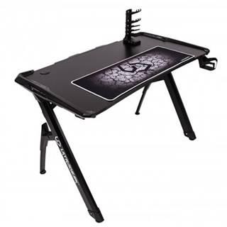 Herný stôl ULTRADESK INVADER čierny UDESK-IN-BB + ZDARMA podložka pod myš a hub