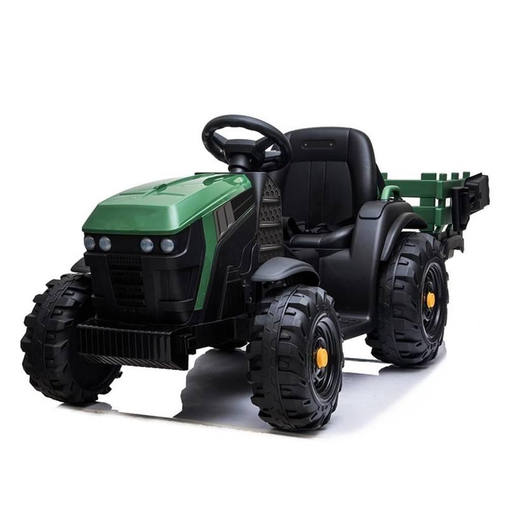 Made Elektrický traktor MaDe s přívěsem černo/zelen