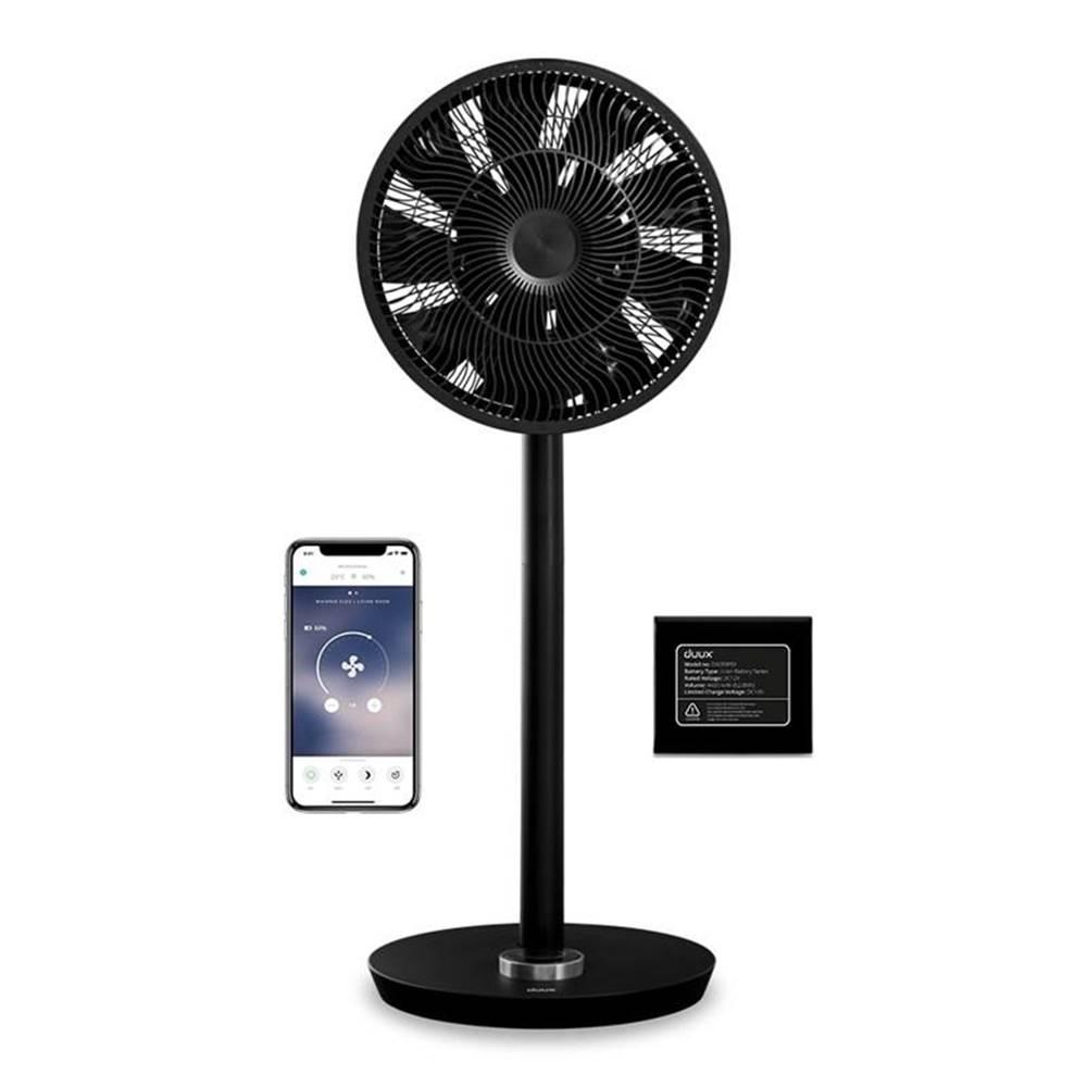Duux Ventilátor stojanový Duux Whisper Smart + Battery pack čierny