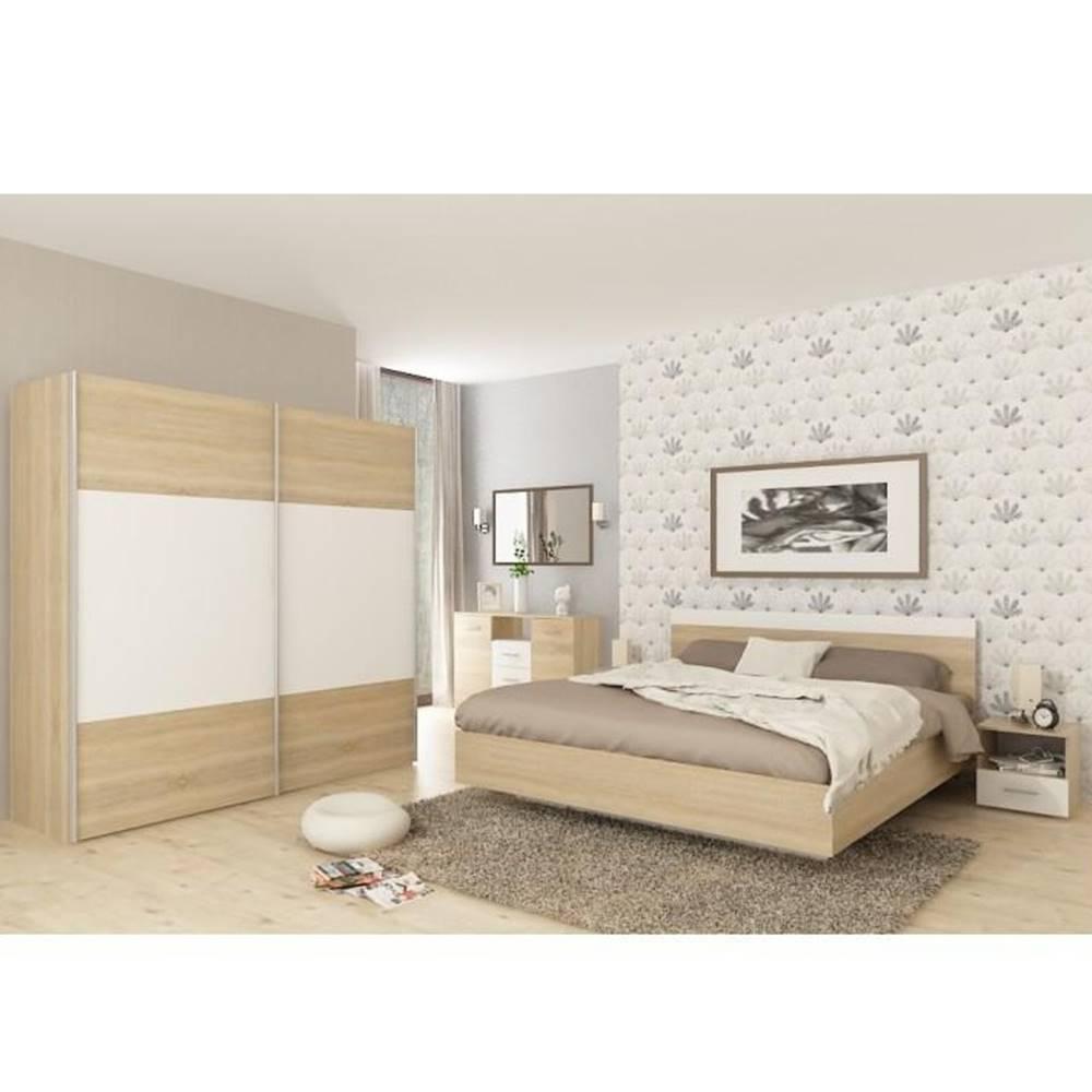 Tempo Kondela Spálňový komplet (posteľ 160x200 cm) dub sonoma/biela GABRIELA