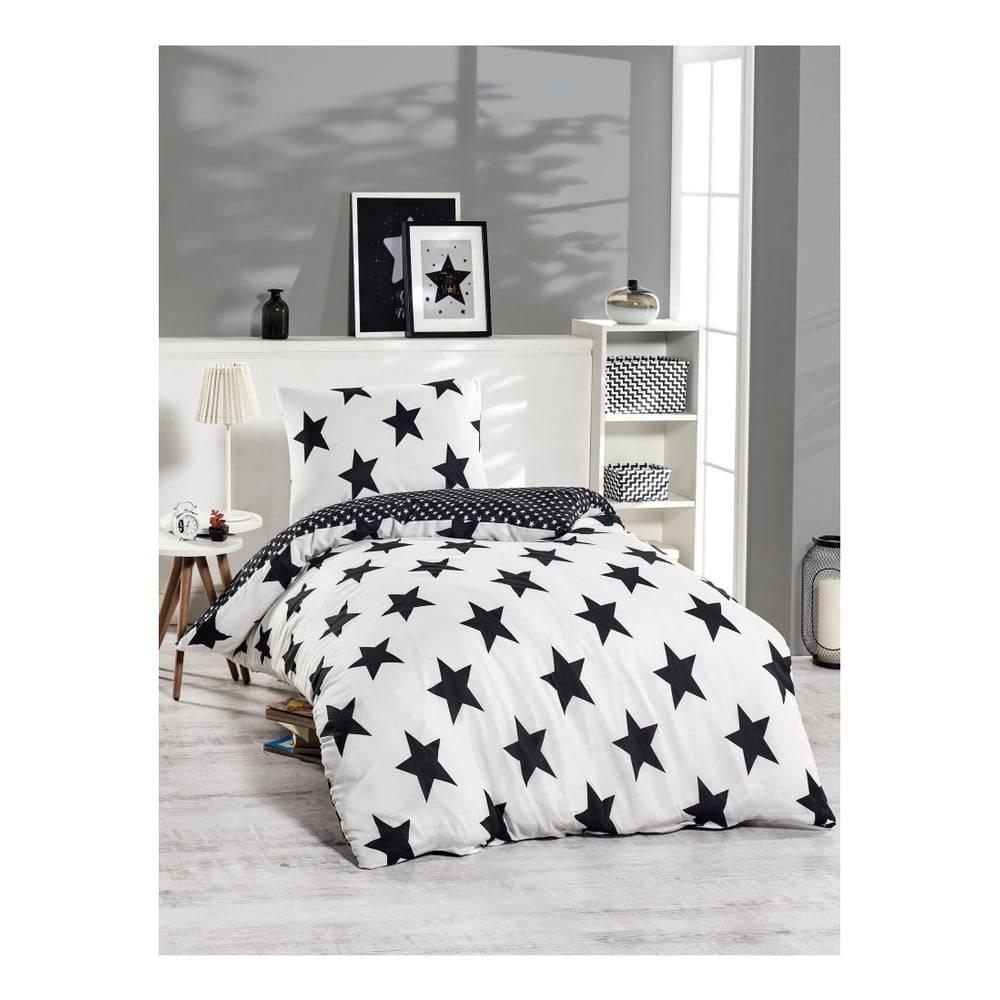 Bonami Obliečky s prímesou bavlny na jednolôžko Bigstar Black, 140 x 220 cm