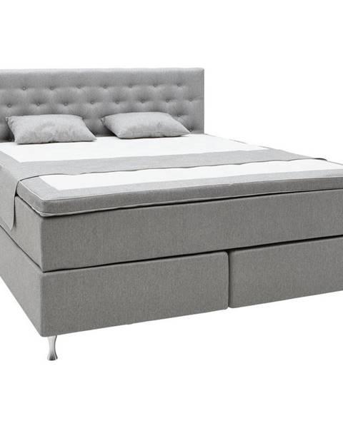 Sivá posteľ Elegando
