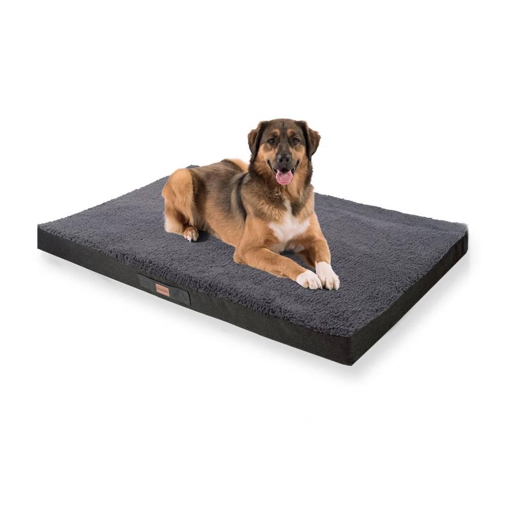 Brunolie Brunolie Balu, pelech pre psa, vankúš pre psa, možnosť prania, ortopedický, protišmykový, priedušná pamäťová pena, veľkosť XXL (140 × 10 × 100 cm)