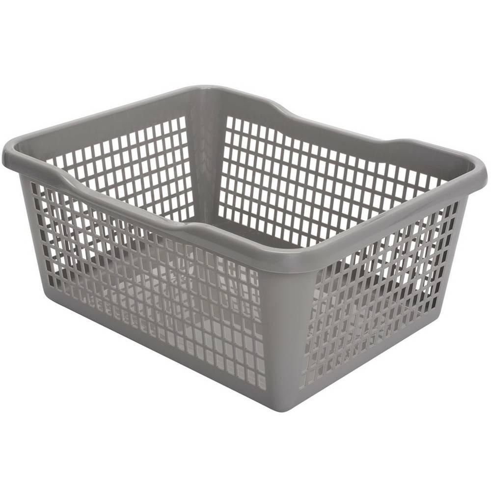 Rabalux Aldo Plastový košík 35,9 x 26,9 x 13 cm, sivá