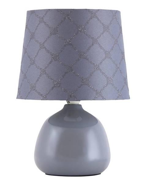 Sivá stolová lampa Rabalux