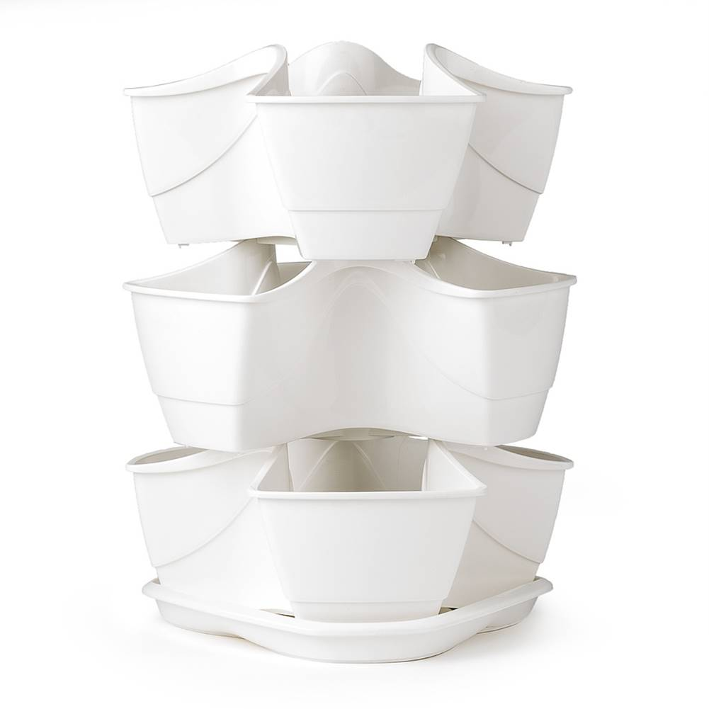 Concept Kvetináč na bylinky Coubi 3 poschodia, biela,