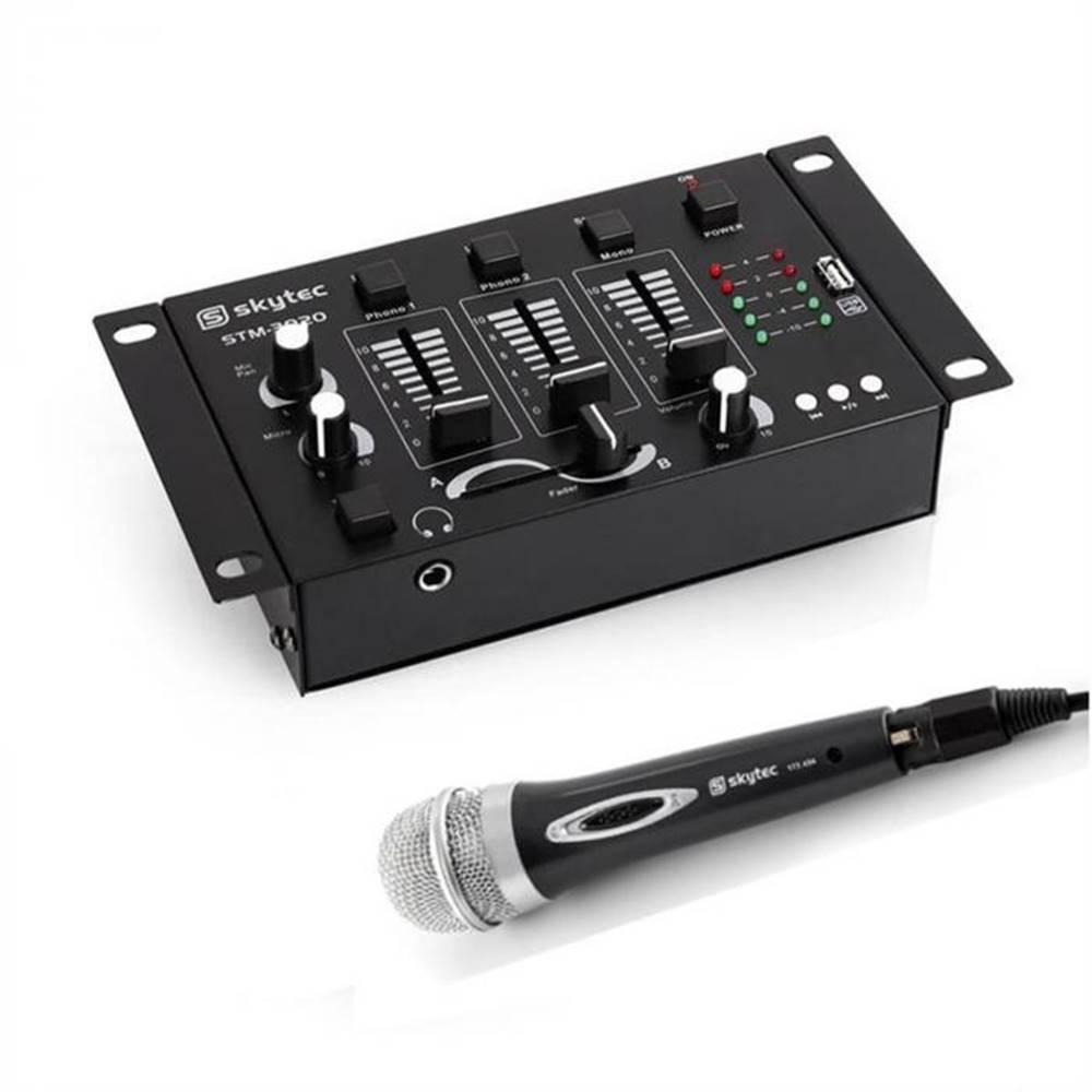 Electronic-Star Electronic-Star Mini DJ Set, 1 x 3/2-kanálový mixážny pult + 1 x ručný mikrofón