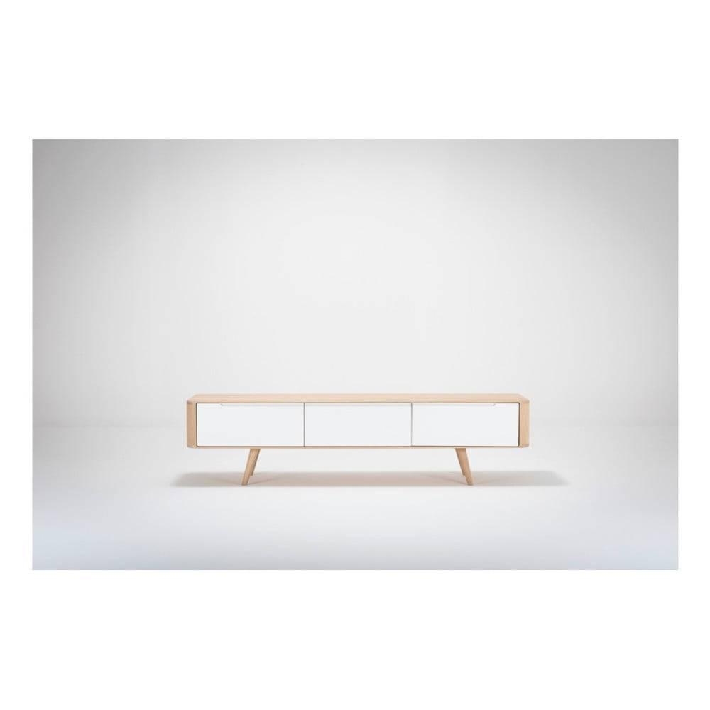 Gazzda Televízny stolík z dubového dreva Gazzda Ena, 180×55×45 cm