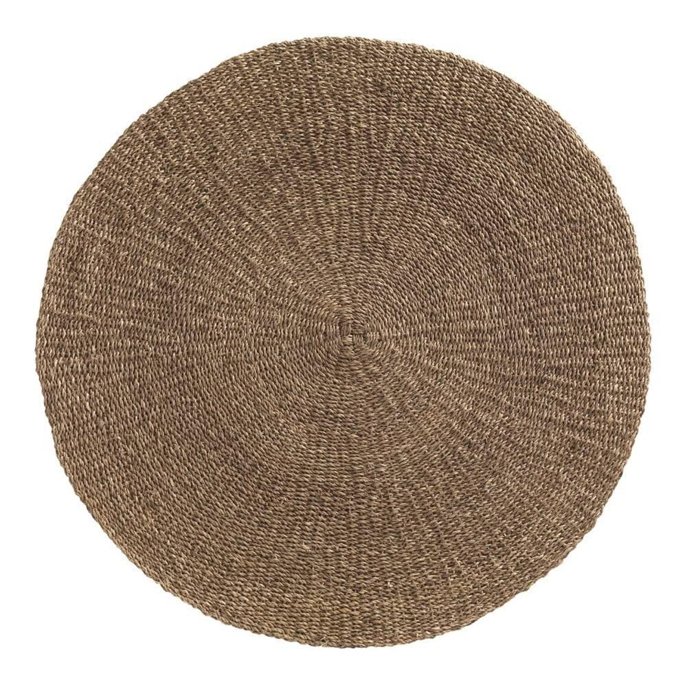 Geese Hnedý koberec z morských rias Geese Rustico Natura, ⌀ 150 cm