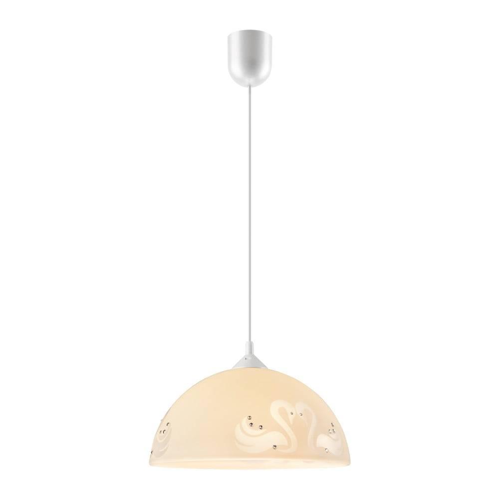 LAMKUR Béžové závesné svietidlo Lamkur Swan