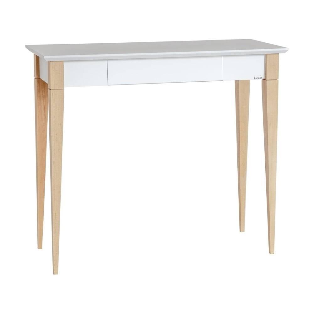 Ragaba Biely pracovný stôl Ragaba Mimo, šírka 85 cm