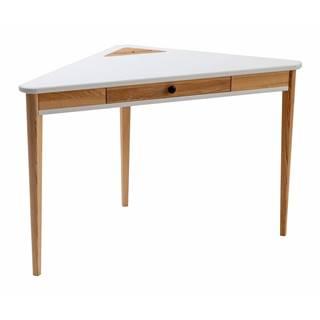 Biely rohový pracovný stôl Ragaba Ashme