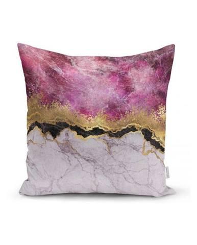 Obliečka na vankúš Minimalist Cushion Covers Marble With Pink And Gold, 45x45cm